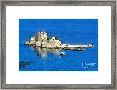 Bourtzi Fortress Framed Print by George Atsametakis
