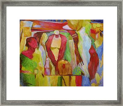 Boutique Arts Festival Framed Print by Natalya Shvetsky