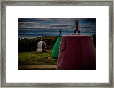 Bouy's Lizard Lighthouse Framed Print by Martin Newman