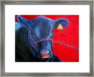 Bovine Intervention Framed Print by Lisa Lea Bemish
