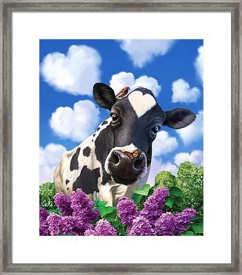 Bovinity Framed Print by Jerry LoFaro