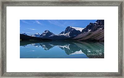 Bow Lake Reflecting Framed Print by Scotts Scapes