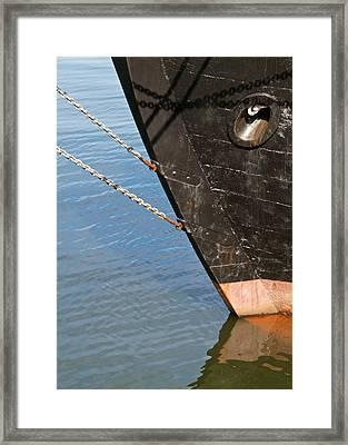 Bow Framed Print by Odd Jeppesen