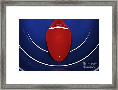 Bowl Water Spoon Framed Print by Dan Holm