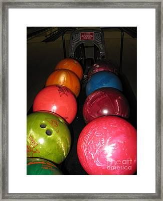 Bowling Balls Framed Print by Ausra Huntington nee Paulauskaite