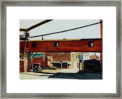 Box Factory Framed Print by Edward Hopper
