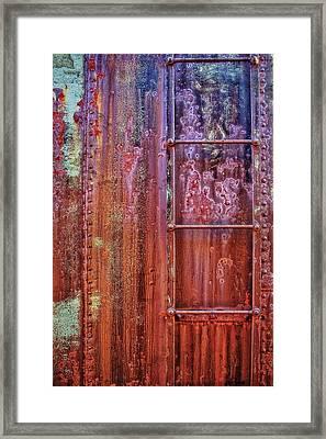 Boxcar Ladder Framed Print by Marcia Colelli