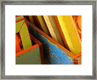 Boxed Memories Framed Print by Ranjini Kandasamy