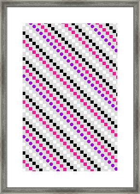 Boxed Stripe Framed Print by Louisa Hereford