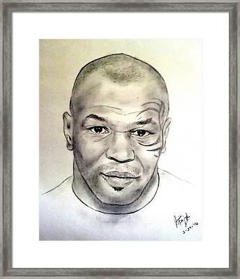 Boxer And Actor Mike Tyson Framed Print by Jim Fitzpatrick