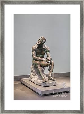 Boxer At Rest Framed Print by Roberto Morgenthaler