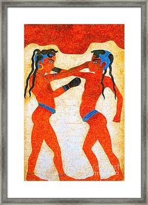 Boxer Boys Painting Framed Print by Antony McAulay