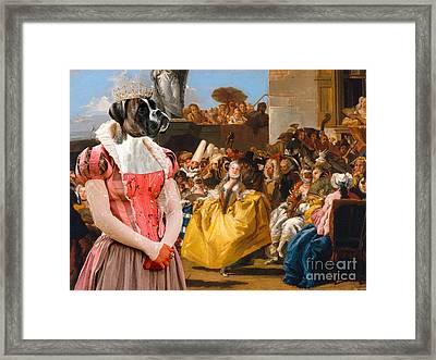 Boxer Dog Art - The Royal Dance Framed Print by Sandra Sij