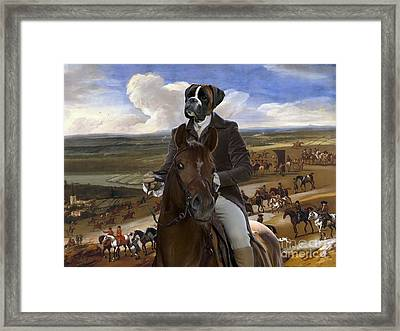 Boxer Dog Art - The Warren Hill At Newmarket Framed Print by Sandra Sij
