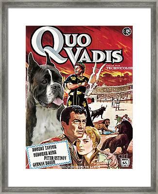 Boxer Dog Art Canvas Print - Quo Vadis Movie Poster Framed Print by Sandra Sij