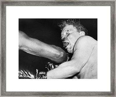 Boxer Near His Limit Framed Print by Underwood Archives