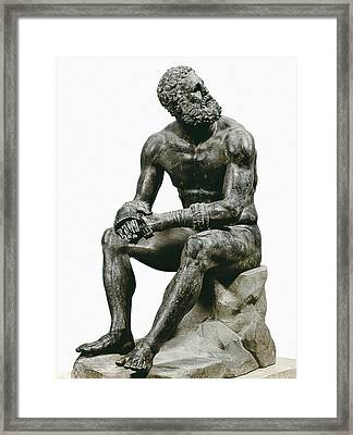 Boxer Seatted. 1st C. Hellenistic Art Framed Print by Everett