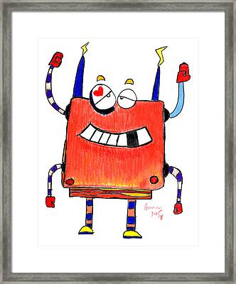 Boxerbot Framed Print by Gannon Benton