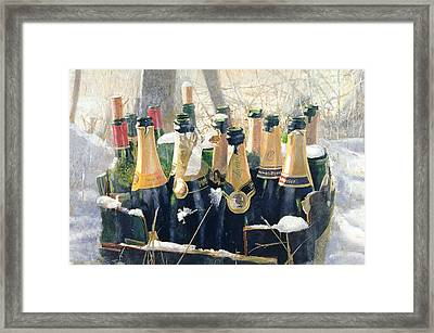 Boxing Day Empties Framed Print by Lincoln Seligman