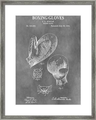 Boxing Glove Patent Framed Print by Dan Sproul