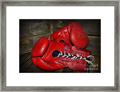 Boxing Gloves Framed Print by Paul Ward