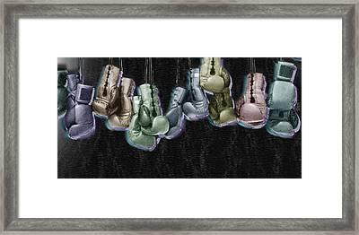 Boxing Gloves Framed Print by Tony Rubino