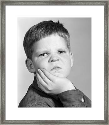 Boy Making Angry Face, C.1960s Framed Print by H. Armstrong Roberts/ClassicStock