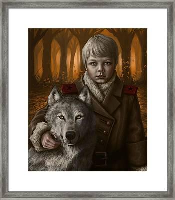 Boy Framed Print by Mark Zelmer