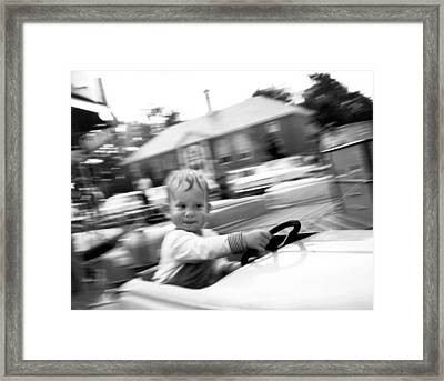 Boy On Ride At World's Fair Framed Print by Underwood Archives