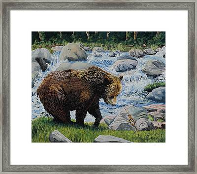 Boy You Are A Big One Framed Print by Timithy L Gordon