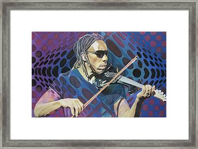 Boyd Tinsley Pop-op Series Framed Print by Joshua Morton