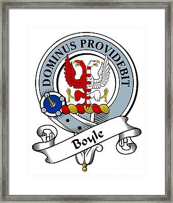 Boyle Clan Badge Framed Print by Heraldry