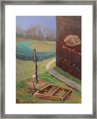 Boys Club Series-baseball Tetherball Box Hockey Framed Print by Dale Smith