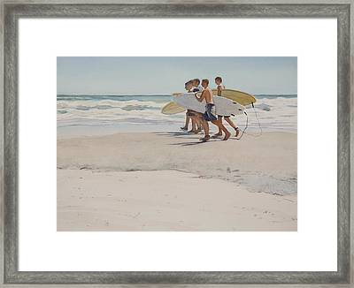 Boys Of Summer Framed Print by Christopher Reid