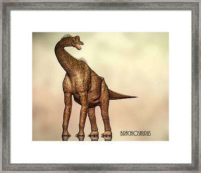 Brachiosaurus Dinosaur Framed Print by Bob Orsillo