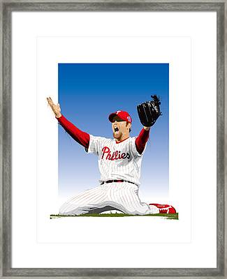 Brad Lidge Champion Framed Print by Scott Weigner