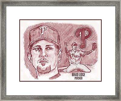 Brad Lidge Framed Print by Chris  DelVecchio