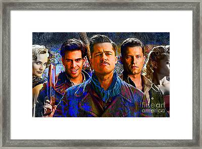 Brad Pitt Original Framed Print by Marvin Blaine