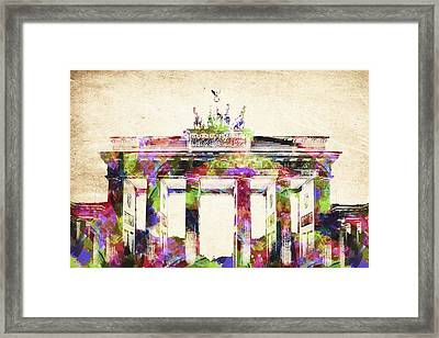 Bradenburger Tor Framed Print by Aged Pixel