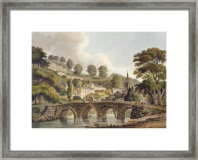 Bradford, From Bath Illustrated Framed Print by John Claude Nattes