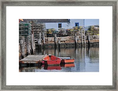 Bradley Wharf Dinghies Framed Print by Mike Martin