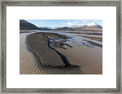 Braided River With Sandbars Framed Print by Dr Juerg Alean