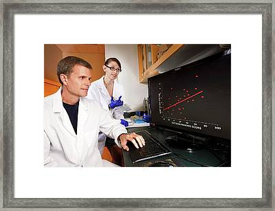 Brain Function And Weight Loss Research Framed Print by Peggy Greb/us Department Of Agriculture