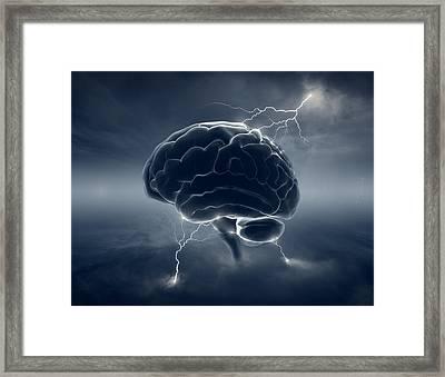Brainstorm Framed Print by Johan Swanepoel