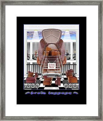 Brain Luggage Framed Print by Mike McGlothlen