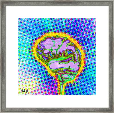 Brain Pop Framed Print by Del Gaizo