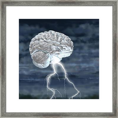 Brainstorm Framed Print by Russell Kightley