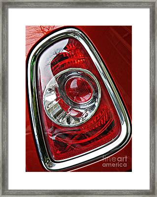 Brake Light 25 Framed Print by Sarah Loft