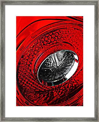 Brake Light 3 Framed Print by Sarah Loft