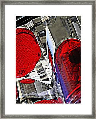 Brake Light 35 Framed Print by Sarah Loft